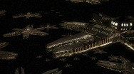Invader fleet space1 Stock Footage