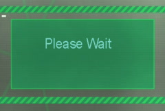 Please wait (computer screen) Stock Footage