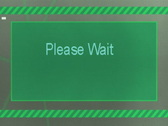 Please wait (computer screen) Stock Footage
