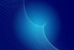 Blue wire frame background Stock Footage