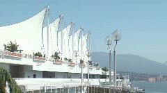 Vancouver Convention Centre's Five Sails. Stock Footage
