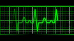 Green EKG Heart rate. Loopable. HD. Stock Footage