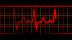 Red EKG heart rate.  Loopable. HD. Stock Footage