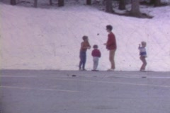 THROWING SNOWBALLS CIRCA 1969 Stock Footage