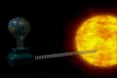 Sun lighting earth. NTSC Stock Footage