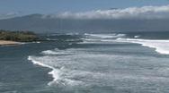 Maui beach surf mountain HD Stock Footage