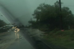 Flash flood drive through... Stock Footage