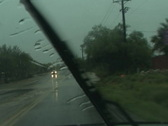 Stock Video Footage of Flash flood drive through...