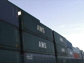 Stack of containers Stock Footage