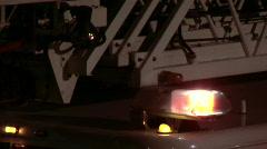 Firetruck lights 2 Stock Footage