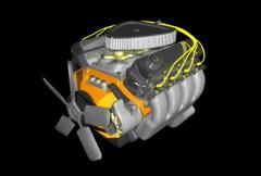 Automobile engine running Stock Footage