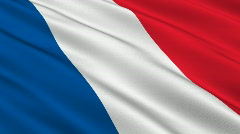 Flag of France - stock footage