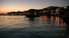 Samos town at sunset - greece Stock Footage