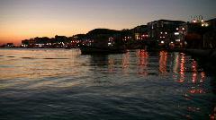 samos town at sunset - greece - stock footage