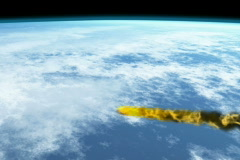 Meteor over earth NTSC Stock Footage