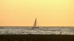 Sailboat Sunset in HD Stock Footage