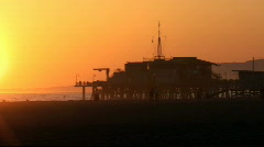 Pier Sunset in HD Stock Footage