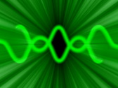 Green glow rays background NTSC Stock Footage