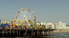 Amusement Rides on Pier in HD Stock Footage