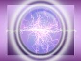 Plasma lightening background NTSC Stock Footage