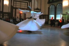 Whirling Dervishes 2 with music Stock Footage