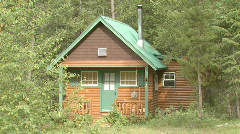 A cabin in the woods Stock Footage