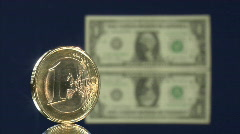 Euro dollar blur fall Stock Footage