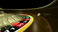 Stock Video Footage of Roulette wheel with ball. HD. Seamless loopable.