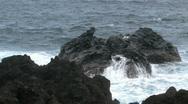 Lava rock in surf HD Stock Footage