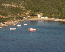 Bay at Samos island Stock Footage