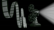 Stock Video Footage of Film projector playing with film. HD. Loopable.
