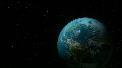 Earth spinning in space. HD. - stock footage