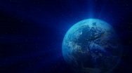 Earth with blue flare. HD. Stock Footage