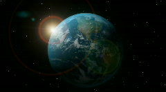 Earth with sunrise. HD. Stock Footage
