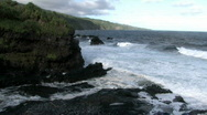 Maui Haleakala NP 7 pools river coast HD Stock Footage