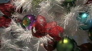 Stock Video Footage of Christmas tree with colorful decorations