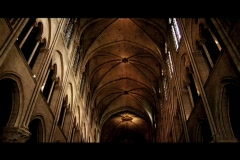 Cathedral ceiling Stock Footage