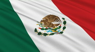 Stock Video Footage of Flag of Mexico