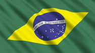 Stock Video Footage of Flag of Brazil
