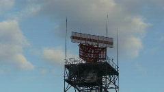 Radar rotating against blue sky Stock Footage