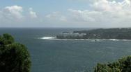 Maui tropical shore trees windy Hawaii HD Stock Footage