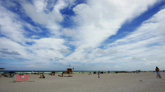 South beach wide Stock Footage