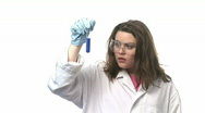 Woman  Working with Chemicals Stock Footage