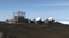 Maui Haleakala Volcano observatory close M HD Stock Footage