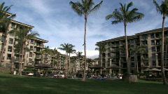 Hawaiian resort trpical Maui M HD Stock Footage