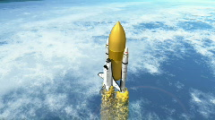 Shuttle with seperating booster HD 1080i - stock footage