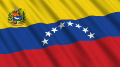Flag of Venezuela Stock Footage