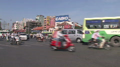 Busy Street in Ho Chi Minh City, Vietnam Stock Footage
