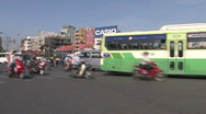 Stock Video Footage of Busy Street in Ho Chi Minh City, Vietnam