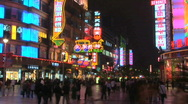 Stock Video Footage of Nanjing Road, Time Lapse